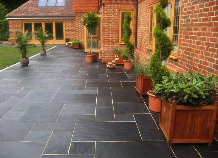 Great Nustone Black Slate Paving Slabs   Garden Patio   Natural Stone Flags    Driveway