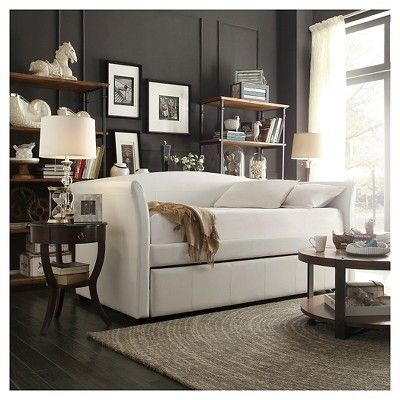 Paige Daybed With Pullout Trundle Twin Vanilla Inspire Q
