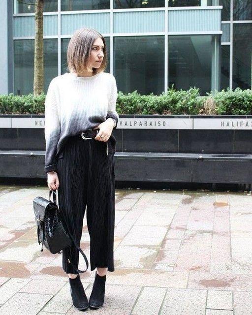 Comment porter la jupe culotte en hiver 10 Meilleures tenues