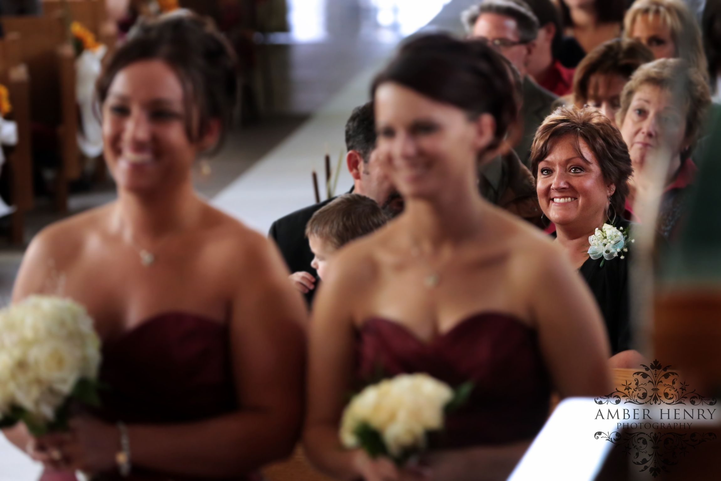 Mother Of The Bride Watching Her Daughter Say Vows On Wedding Day Www