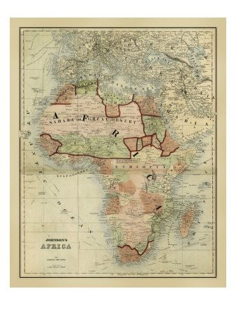 Africa | Mapquest | Africa map, Map, Africa art