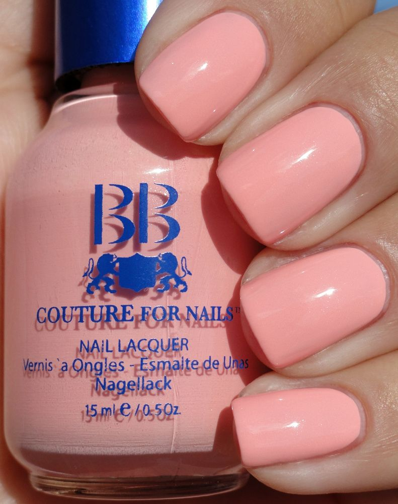 Buy Cool And Light Peachy Pink Nail Polish Color Online Store