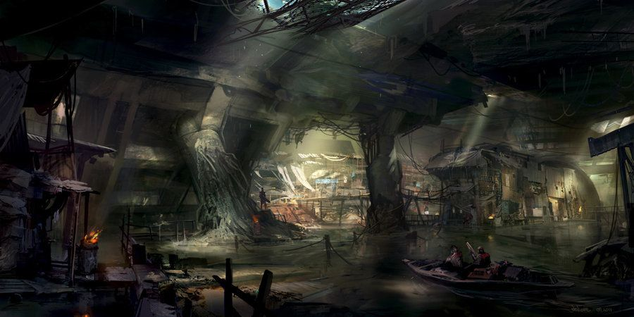 Underground City By Jonone On Deviantart Post Apocalyptic Art Futuristic City Underground Cities