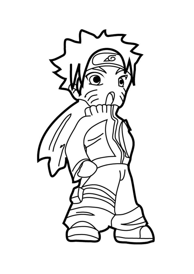 Happy Naruto Coloring Pages (มีรูปภาพ)
