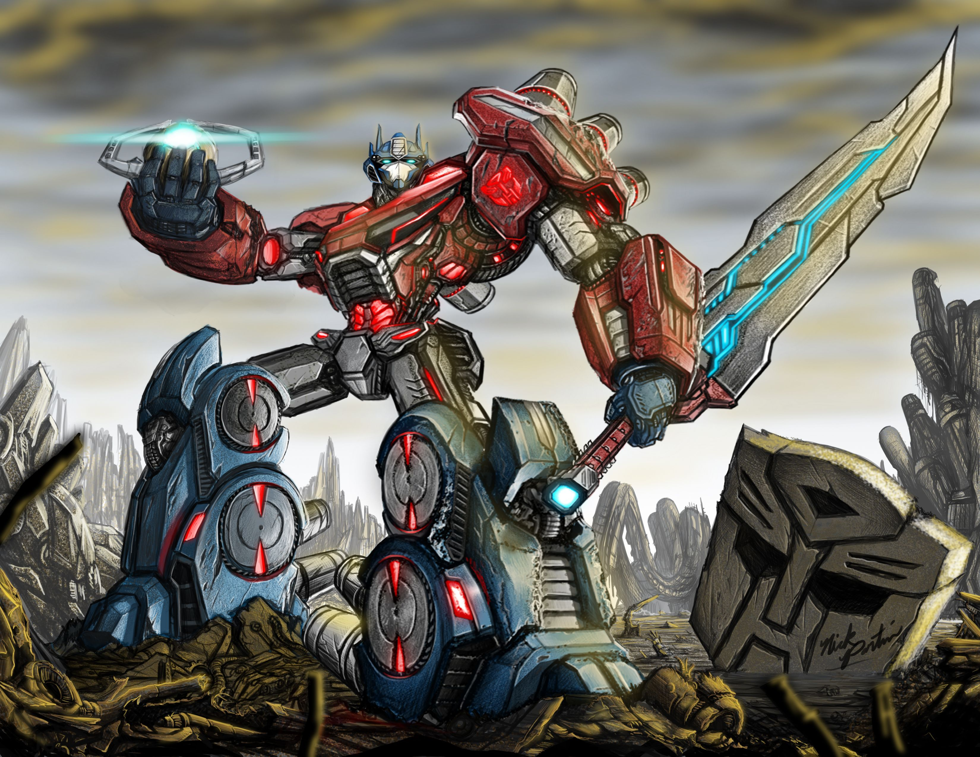 transformers fall of cybertron fan art by partin arts deviantart