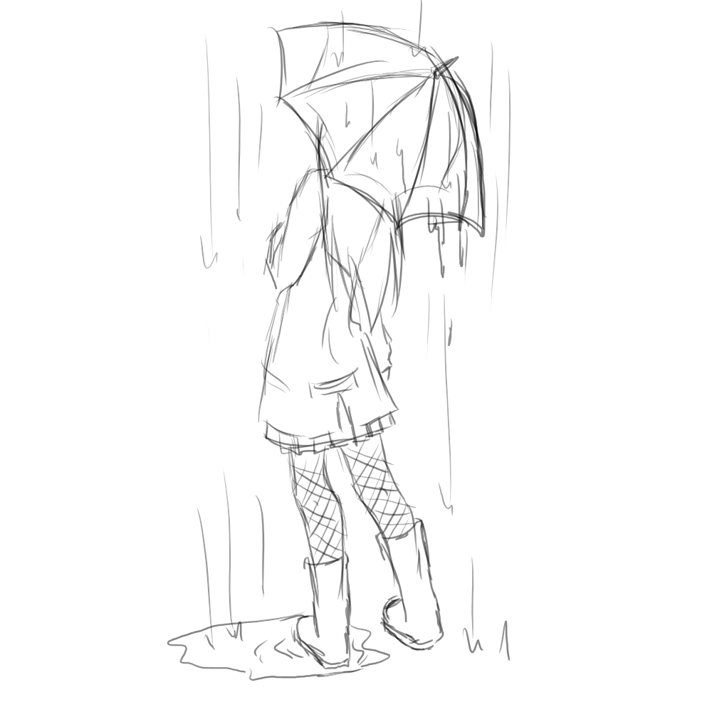 Umbrella girl sketch by witchgirl117 png 1000x1000 drawing umbrella umbrella painting drawing rain