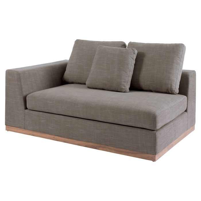 Dwell Modular Sofas Cb2 Lotus 3 Piece Grey Sectional Sofa