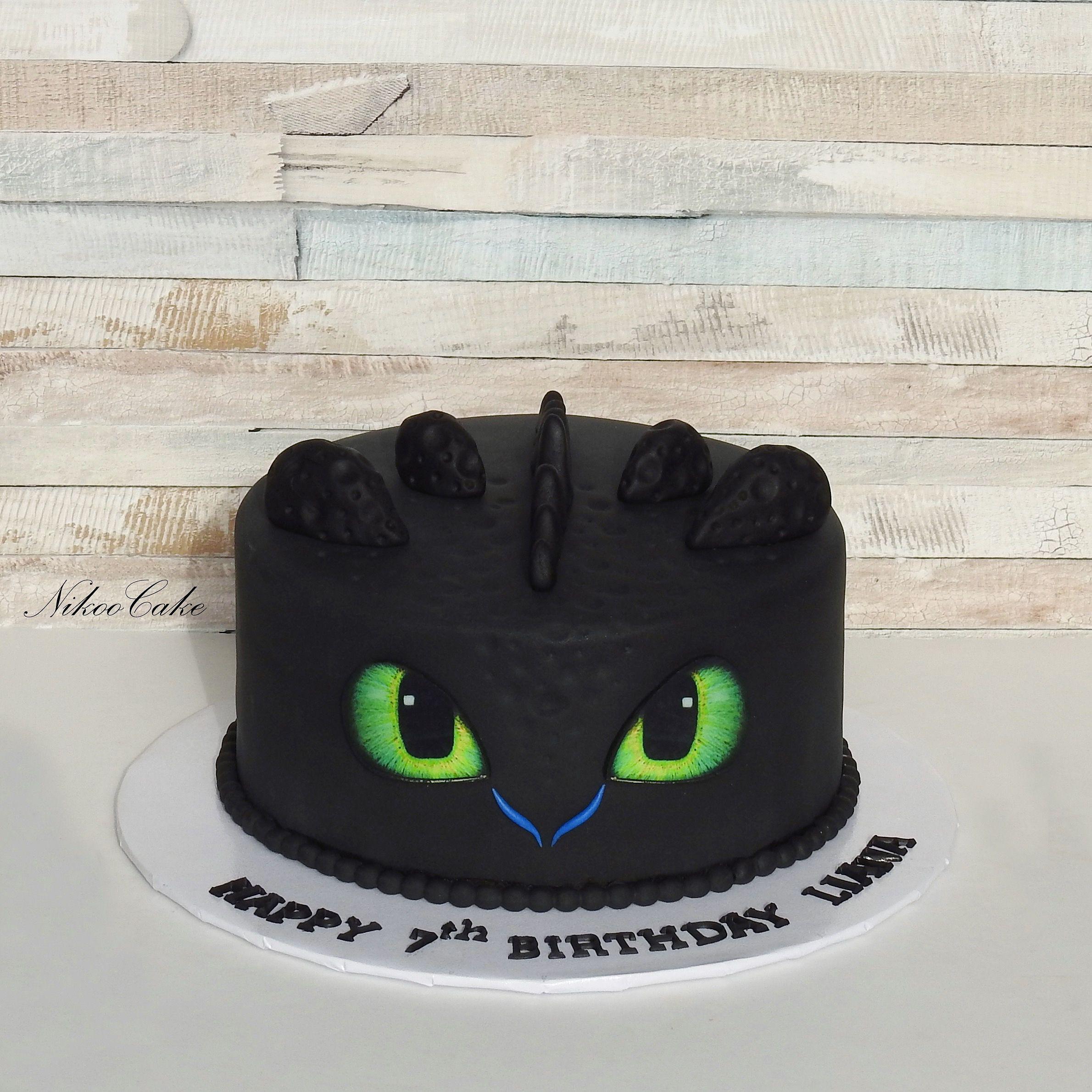 Surprising Toothless Dragon Birthday Cake Personalised Birthday Cards Veneteletsinfo