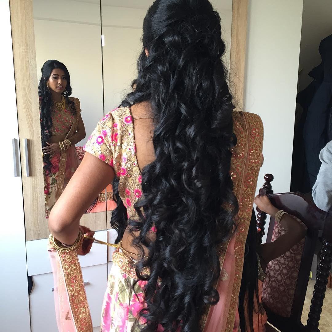 Bride#Thusha#reception#Göttingen#hairstyle#curls#extralonghair