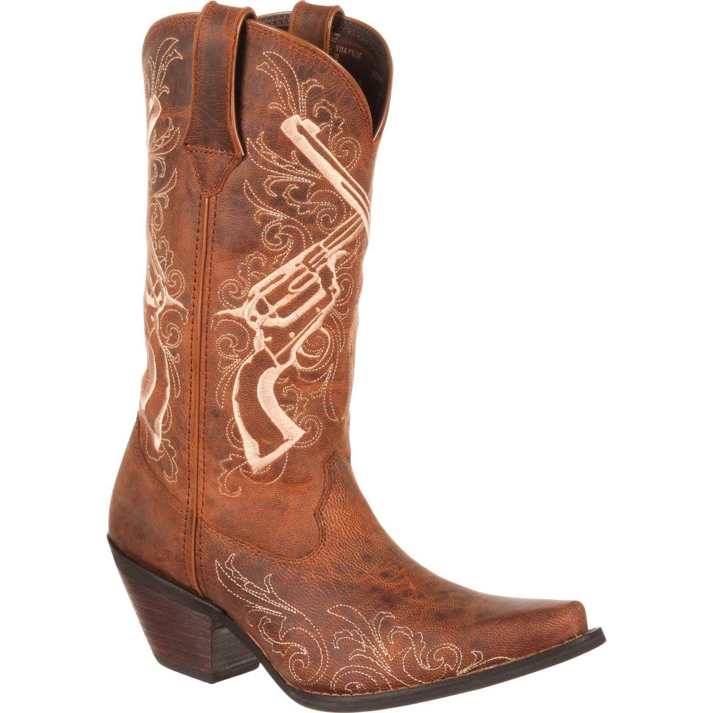 Crush™ by Durango® Women's Crossed Guns Western Boot Tan