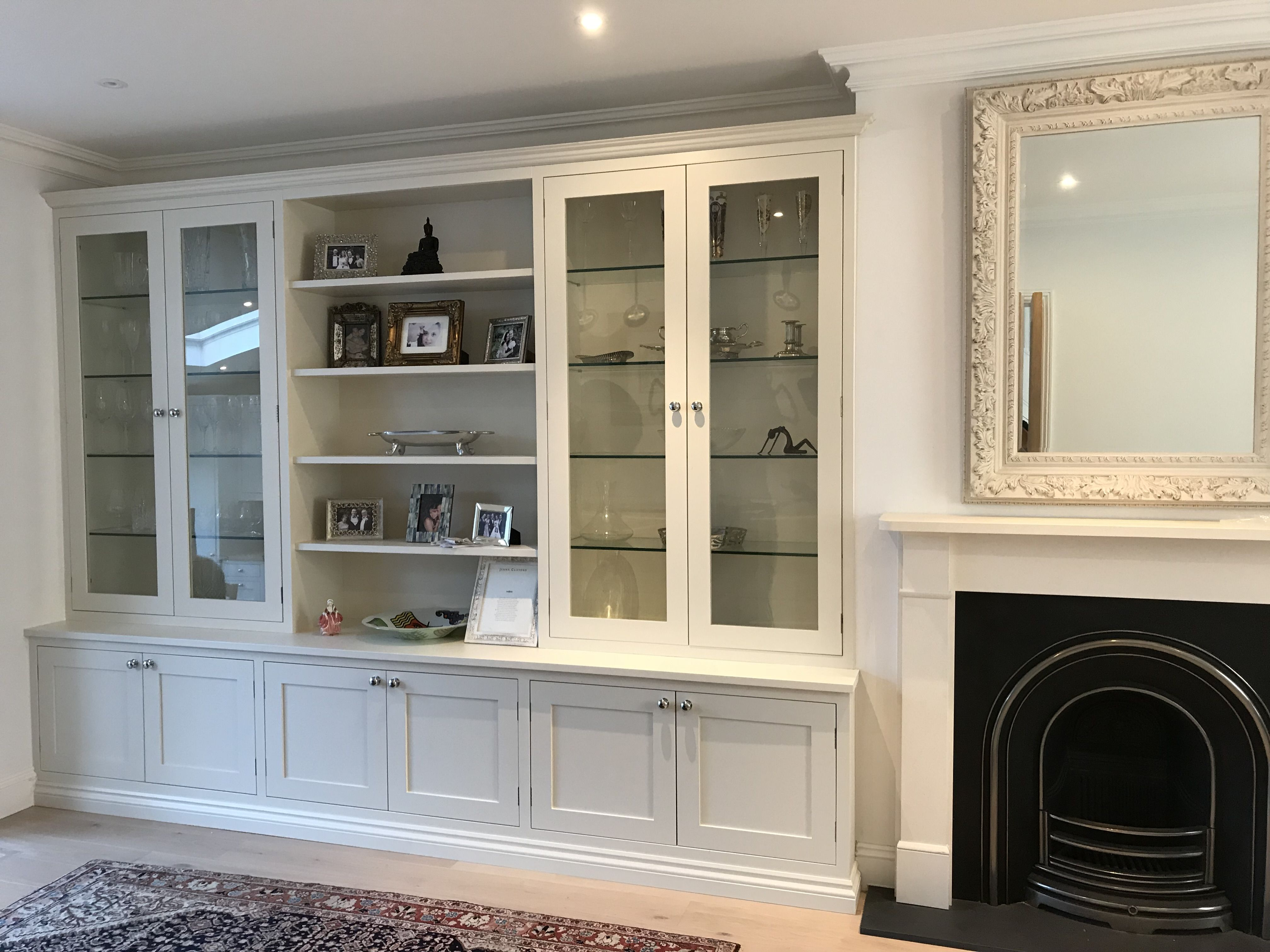 Custom Made Bookcase Bookshelves Clive Anderson Furniture Living Room Built In Cabinets Living Room Built Ins Glass Cabinets Display