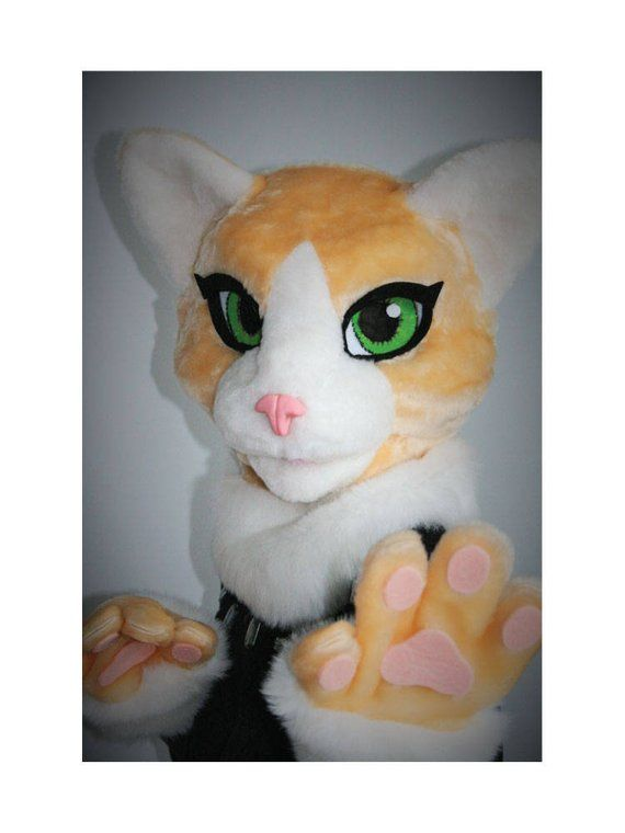 aa3bd05f7 Persian cat fursuit partial, feline fursuit head, kids fursuit, fursuit for  girls, premade fursuit h