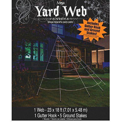 Mega Yard Spider Web Halloween Decor 23\u0027 X 18\u0027 Amscan   www - spider web halloween decoration