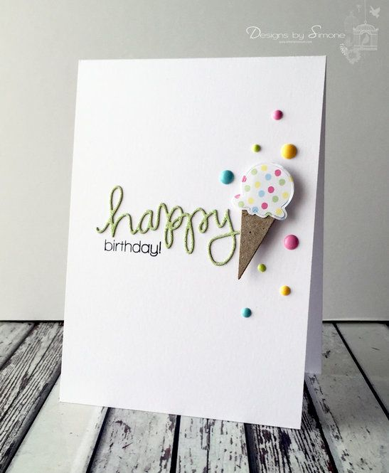 Ice Cream Sprinkles Card