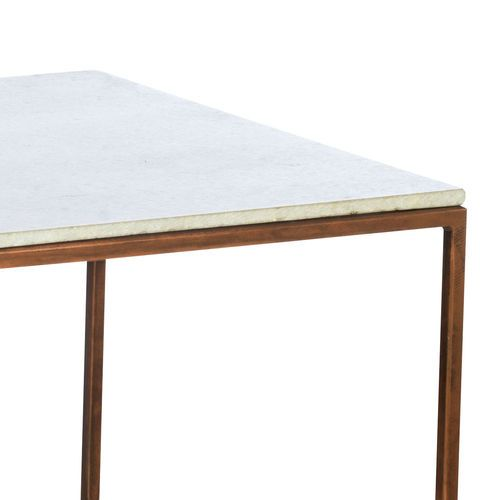 madam stoltz couchtisch tisch marmor kupfer 60x60 retro marmorplatte neu furniture for the. Black Bedroom Furniture Sets. Home Design Ideas