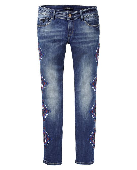 Low Rise Skinny Navajo Blues Jeans by Parisienne