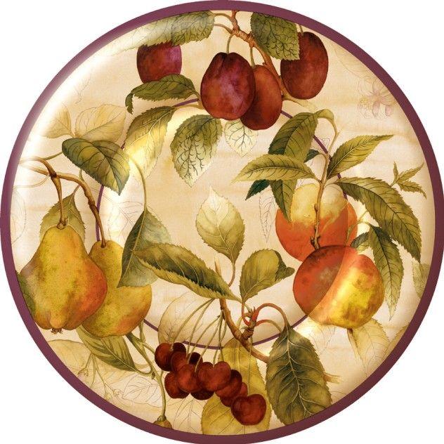Case Of Natures Best Paper Plates Harvest Thanksgiving Peaches Cherries Les