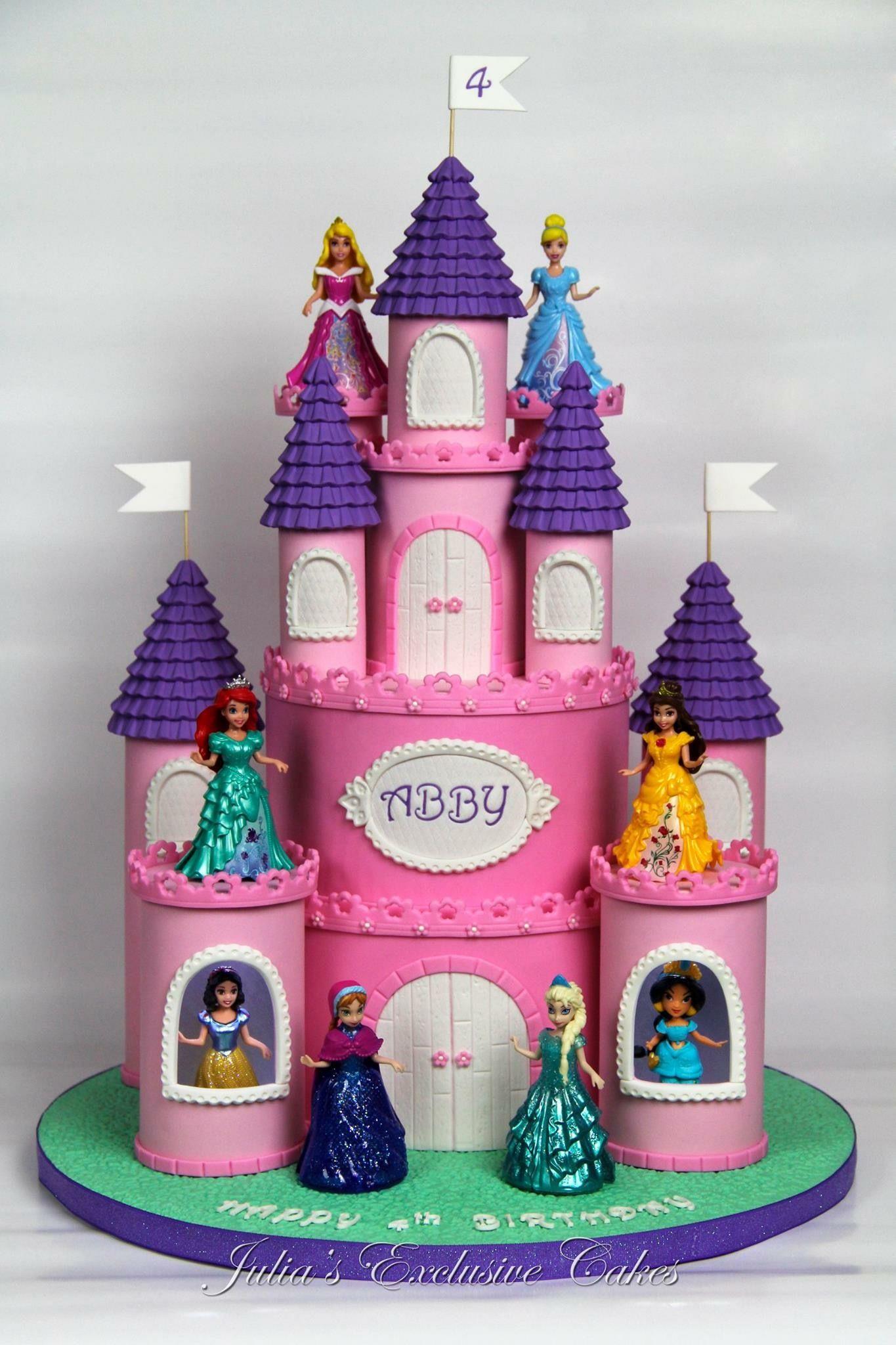 Surprising Disney Princess Castle Cake Princess Castle Cake Disney Personalised Birthday Cards Beptaeletsinfo