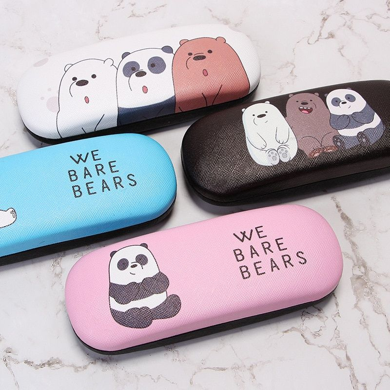 Cartoon Glasses Box High Quality Student School Cases Matel Hard Cover Eyeglasses Protector Spectace