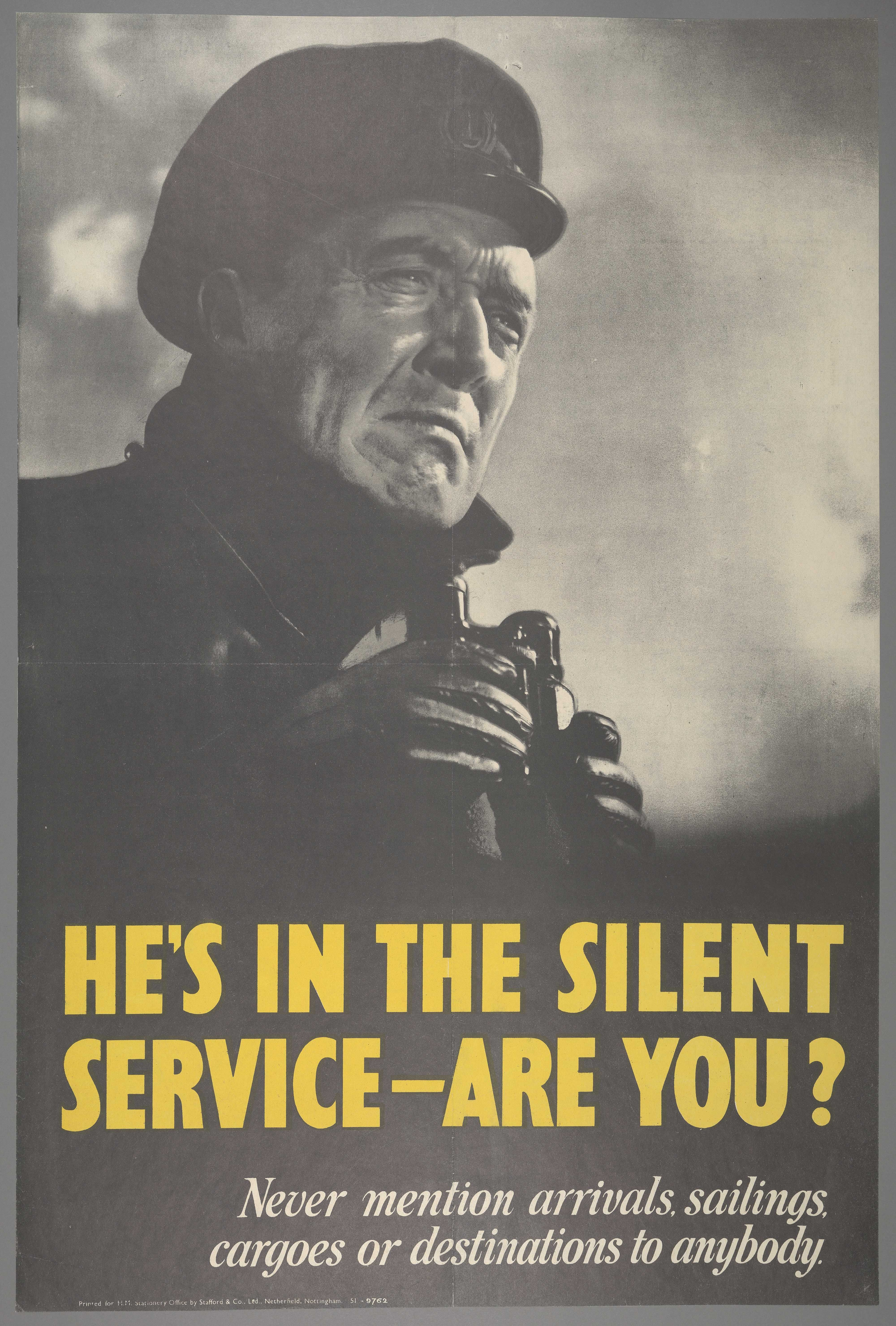 WW2, poster, He's in the silent service, are you? 1939-1945