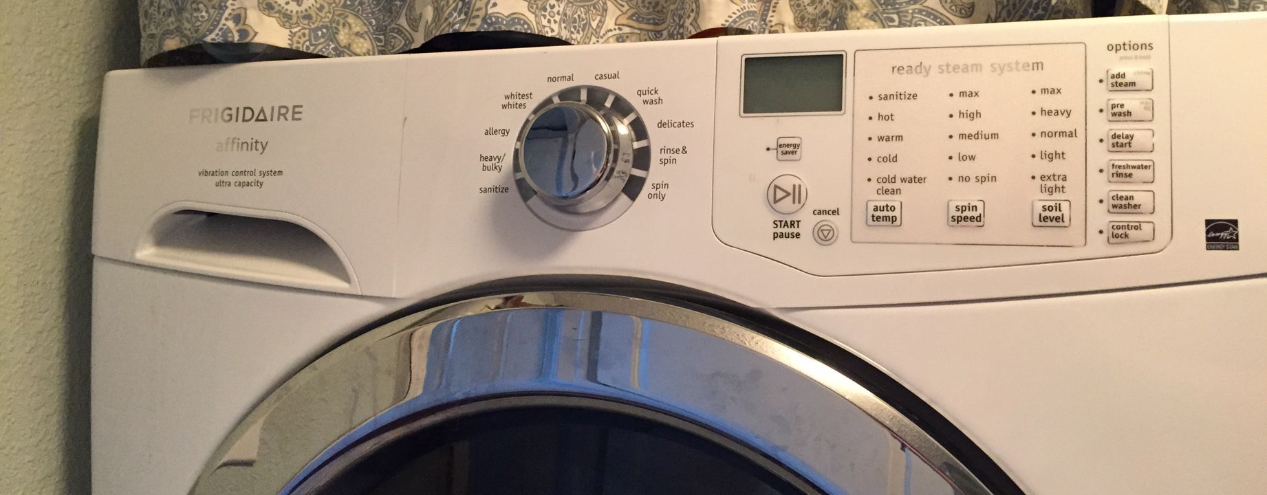 Wash modes for specific machines.