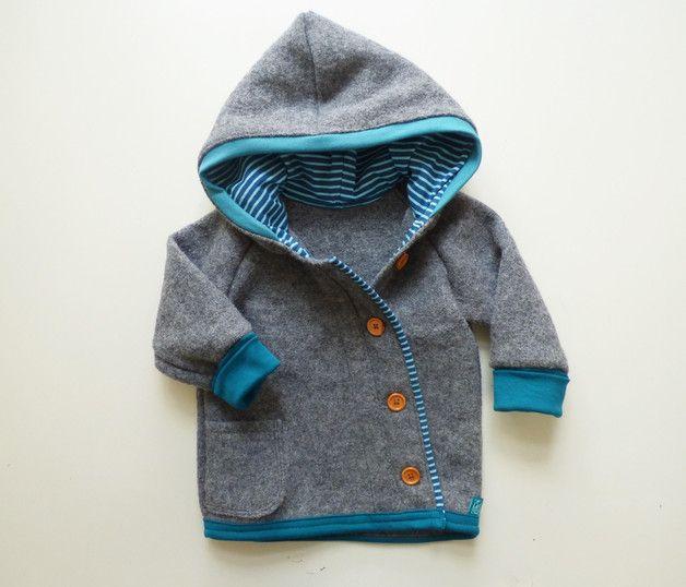 Jacken – Walkjacke individualisierbar – ein Designerstück von Garn-nele bei DaW…