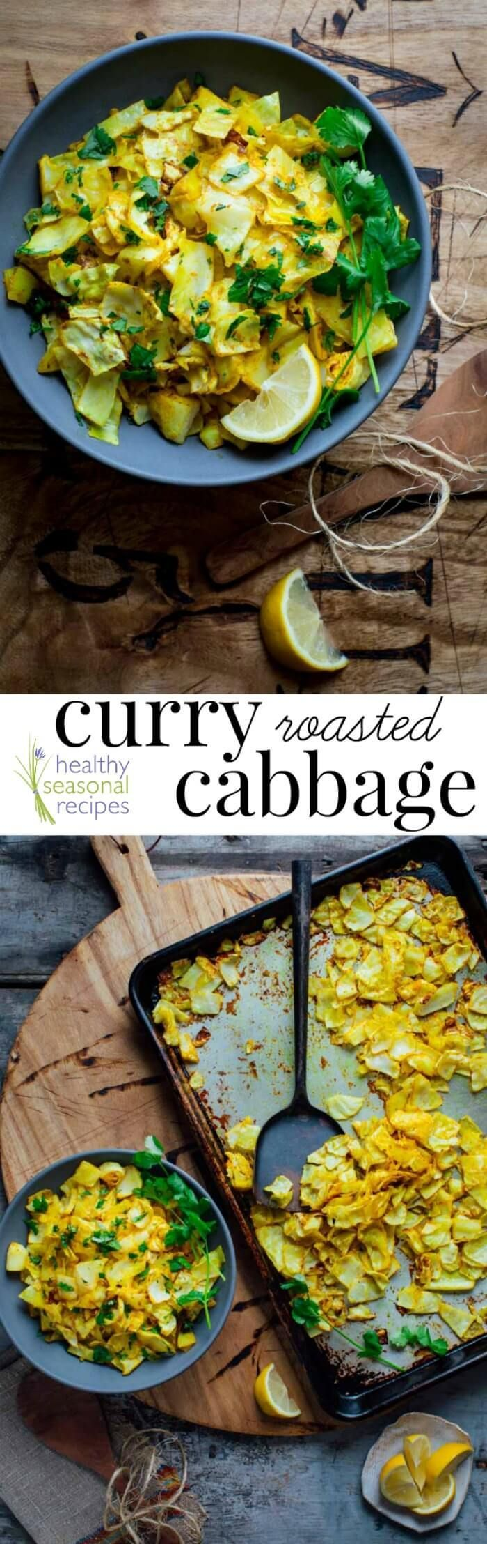 Curry roasted cabbage - Healthy Seasonal Recipes | #lowcarb #cabbage #keto #sidedish #glutenfree #vegan