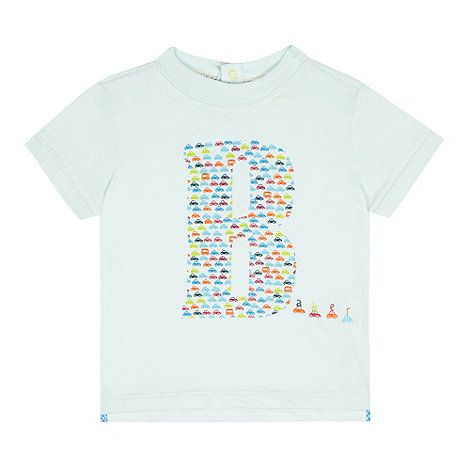 2391936152fd07 Baker by Ted Baker Baby boys  light turquoise car logo print top ...