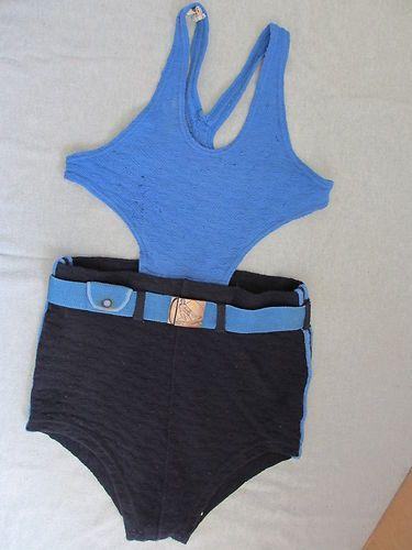 1c4fdd8796 Vintage 20s men's bathing suit with water skier belt buckle. So cool I'd  frame it.