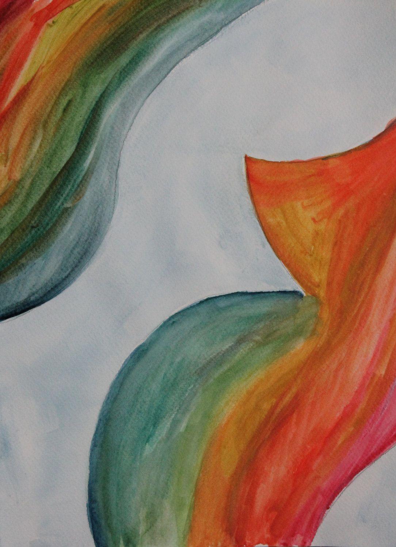 Original watercolor art for sale - Off Sale Original Watercolor Painting Nude Colorful Pregnant Maternity Figure