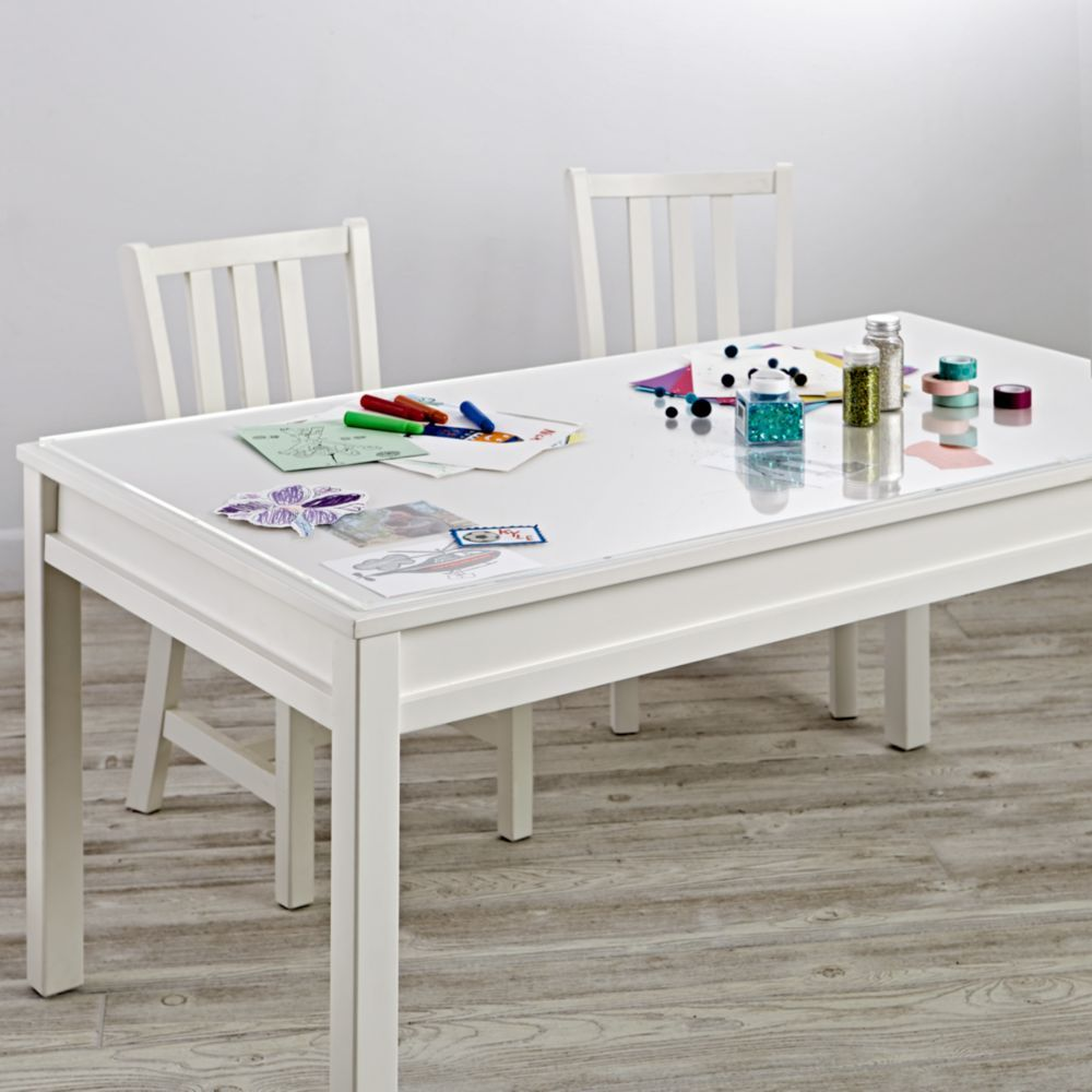 Large Acrylic Desk Mat Crate And Barrel Kids Table Chairs