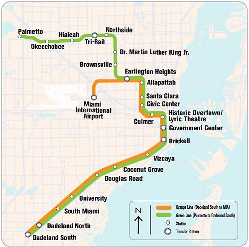 nice Miami Metro Map Travelquaz Pinterest Miami Metro rail
