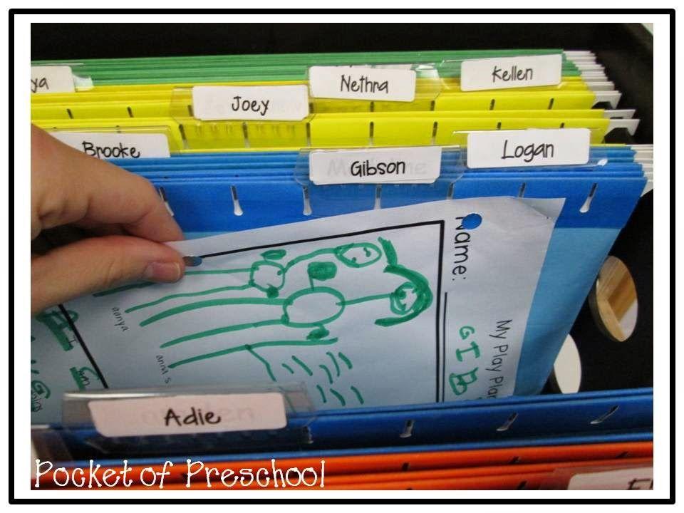 Portfolio Organization Keep A File For Each Child S