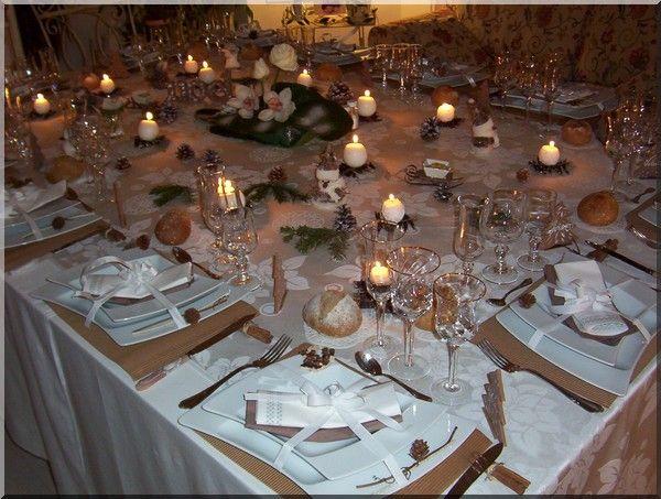 Table de noel en france table de no l sur le th me de la - Decoration de noel theme nature ...