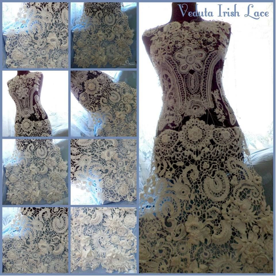 Wedding dresses under 2000  wedding dress in process made to order    crochet