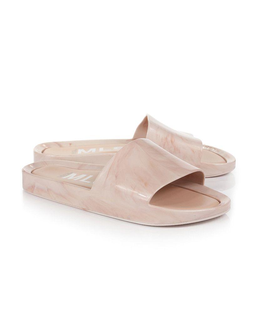 156c40b41e12 Melissa Women s Beach Slider Sandals - Blush Marble