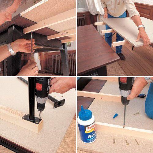 Comment Fabriquer Une Rallonge De Table Amovible Table Amovible Table Rallonge Table