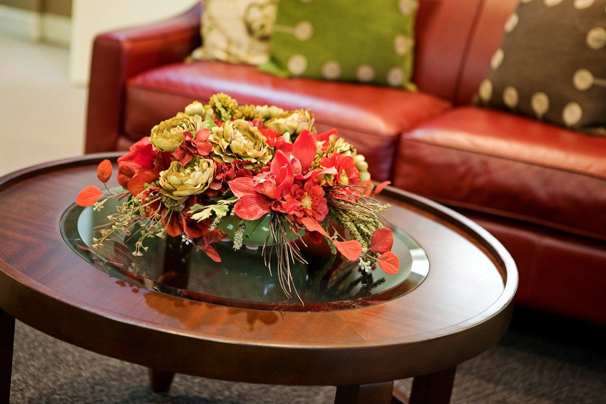 A Bright Coffee Table Arrangement Coffee Table