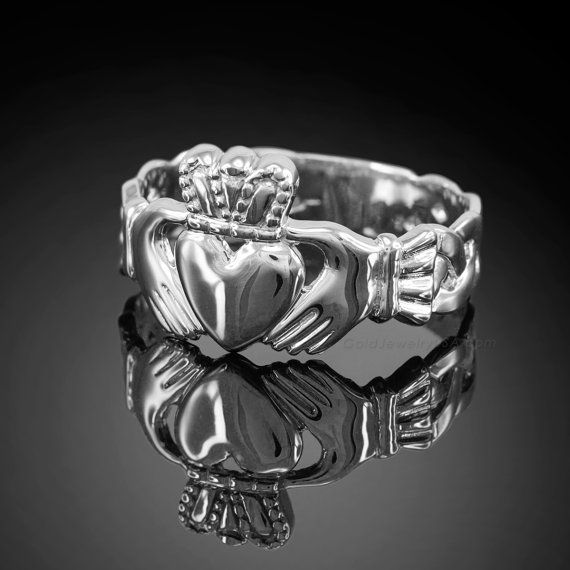 925 Sterling Silver Claddagh Ring - Mens Claddagh Ring - Silver Irish Claddagh Ring on Etsy, $30.00