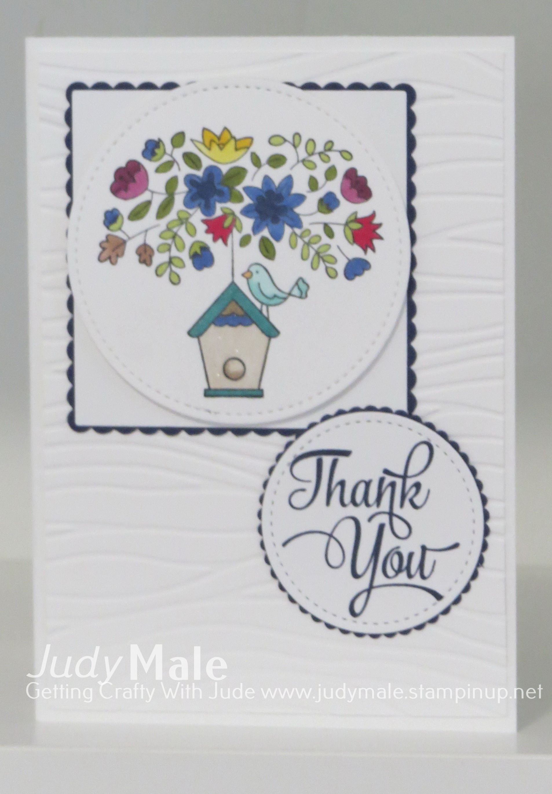 Stampin Up, Thank You Card, Flying Home, Stitched Shapes Framelits ...