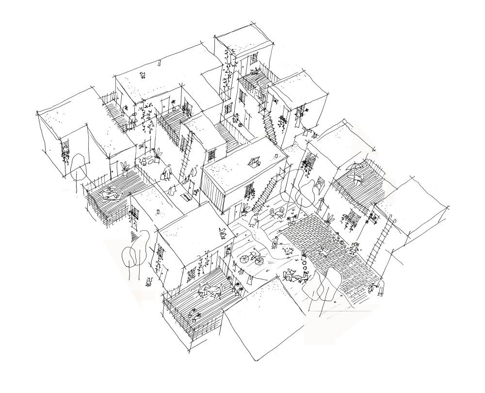 Architecture Drawing Of Trees gallery of centre village / 5468796 architecture + cohlmeyer