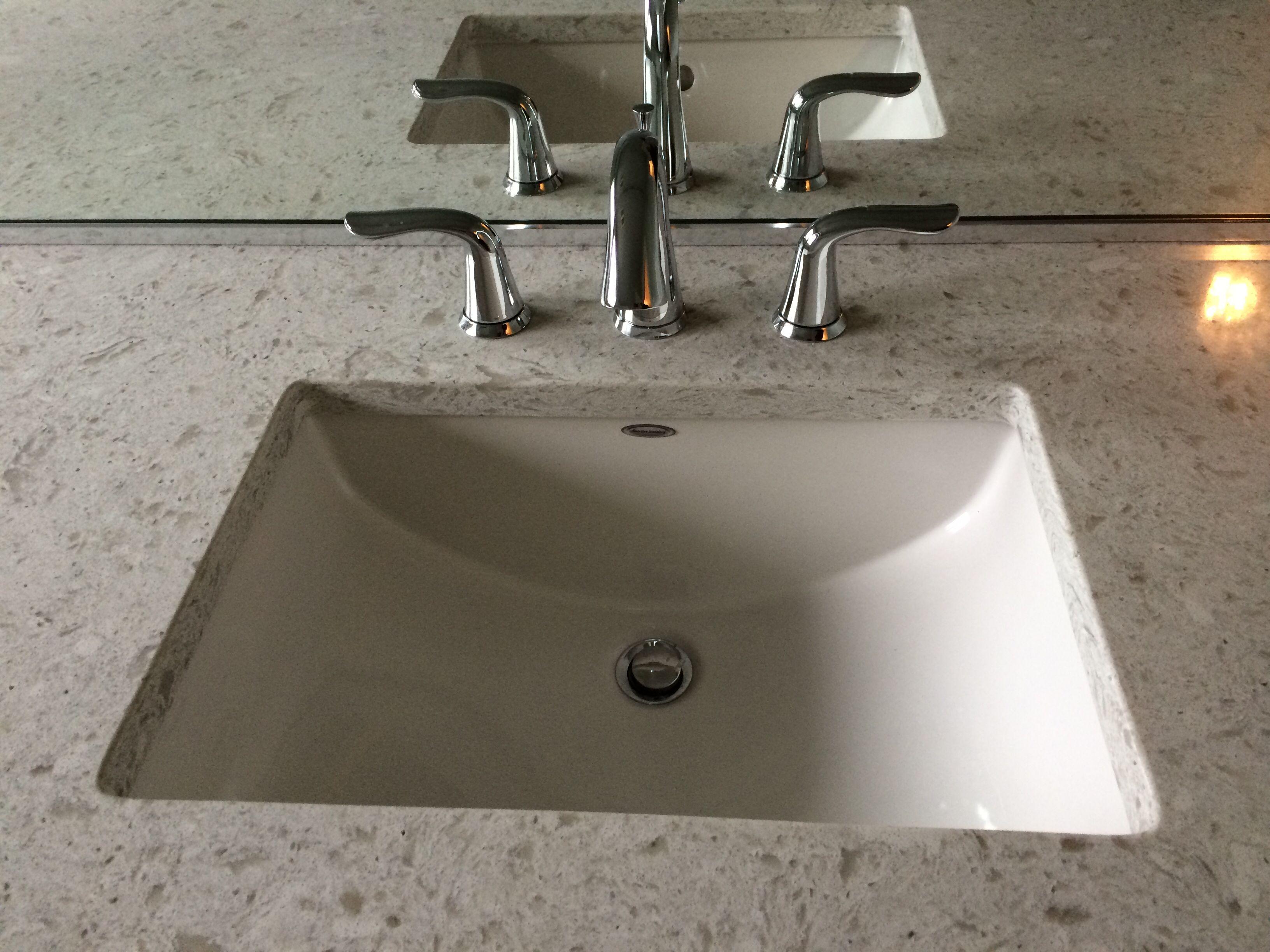 American Standard Studio Under Mount Sink With Delta Lahara Faucet