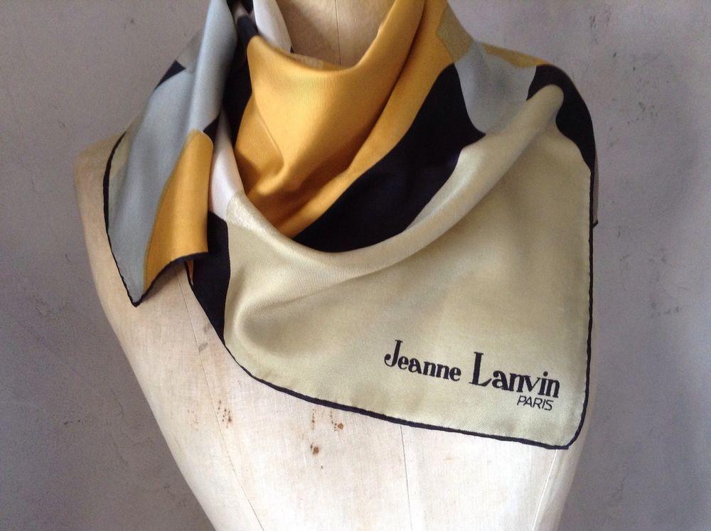9a172152fb9d foulard LANVIN PARIS En 100% Soie   eBay   Soie   Pinterest   Lanvin ...
