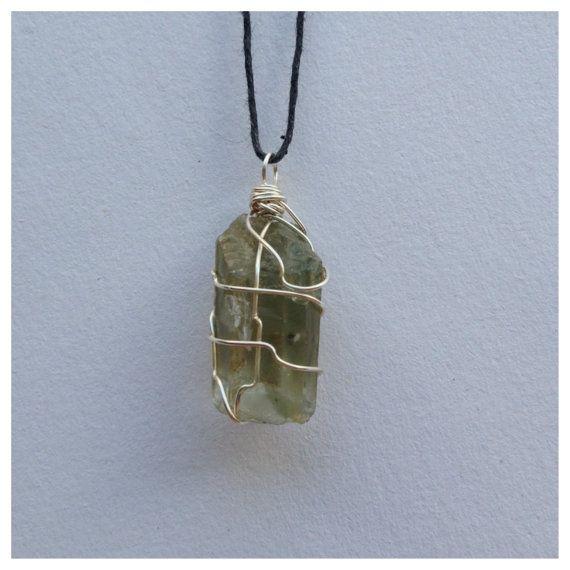 chlorite quartz necklace