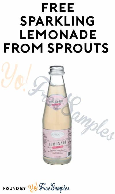 FREE Sparkling Lemonade from Sprouts (App + Code required) - Yo! Free Samples #sparklinglemonade