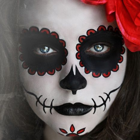 Maquiagem de Caveira Mexicana (Sugar Skull)  f48320ec895