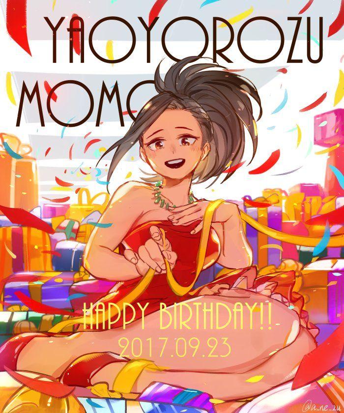 Character Momo Yaoyorozu Happy Birthday My Hero