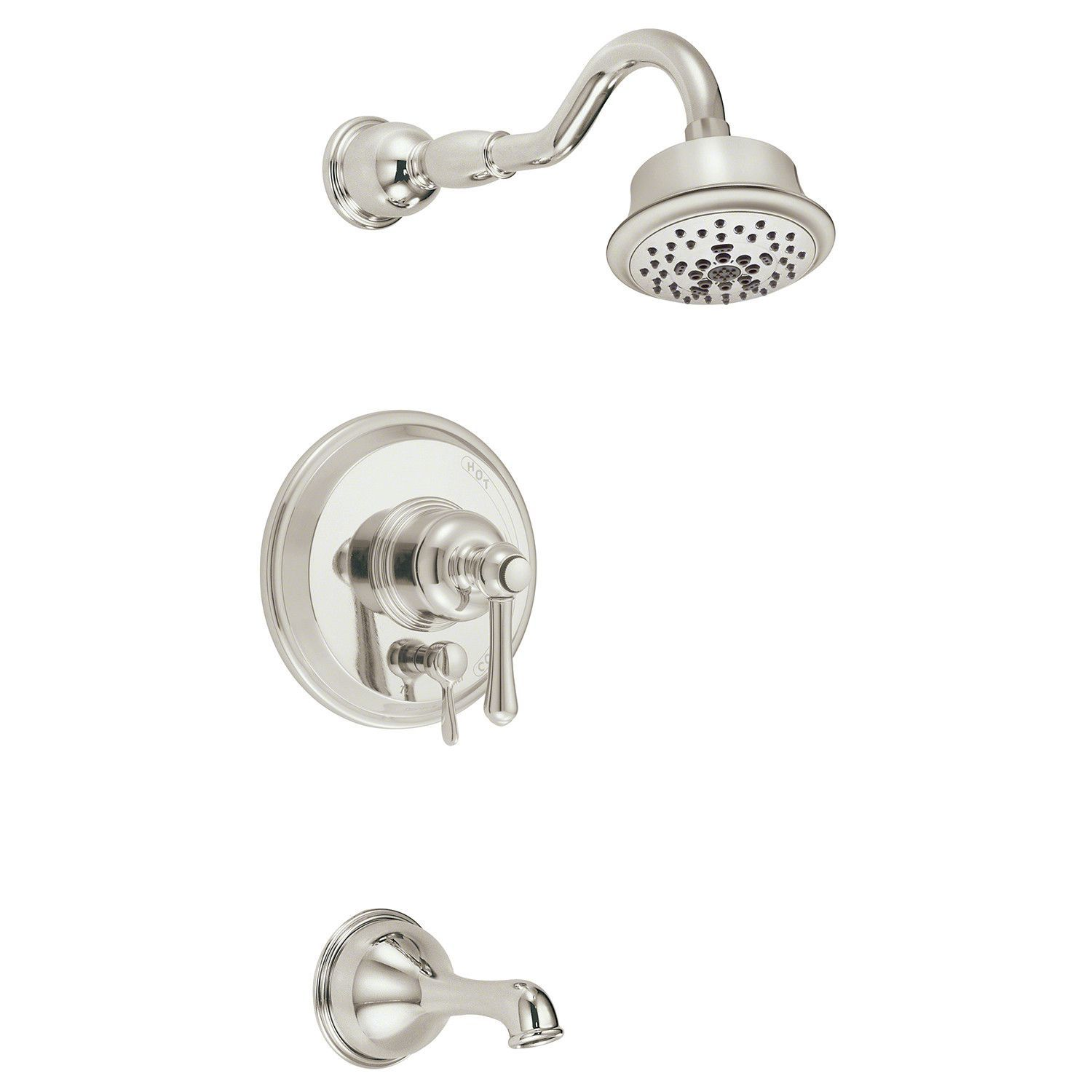 Danze D502257PNVT Polished Nickel Pressure Balanced Tub and Shower ...