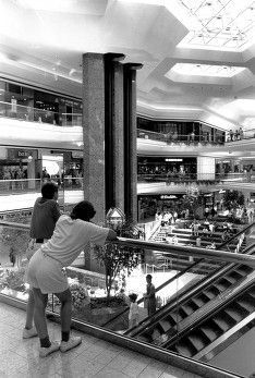 Architectural interiors commercial pinterest interior view of the columbus city center shopping mall in downtown columbus ohio 1990 sciox Choice Image