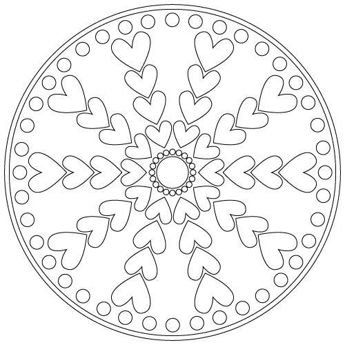 heart mandala mandala Pinterest Mandalas, Colorear y Mandalas